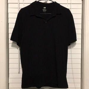 H & M Men's Polo Shirt Slim Fit  Size Large